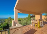 dining porch and view