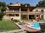 front view villa costa blanes