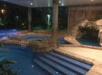 indoor pool by night