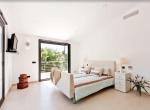 modern villa mallorca bedroom